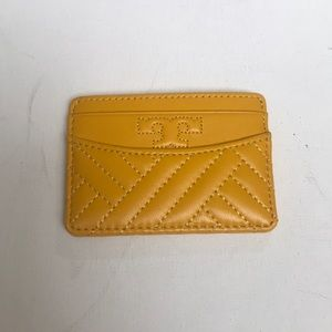 NWT Tory Burch Yellow Slim Card